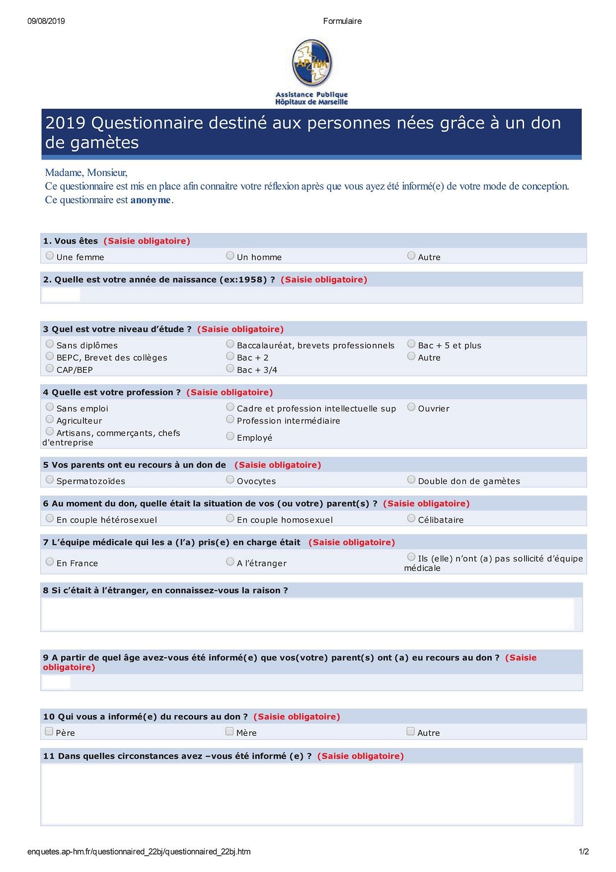 Formulaire enfant (PDF)