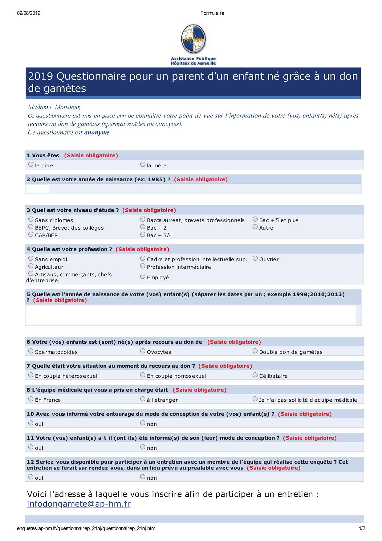 Formulaire parent (PDF)