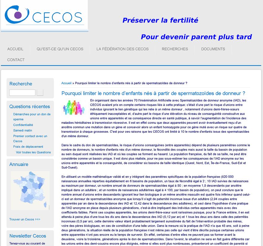 Article CECOS pourquoi limiter le nombre de naissances