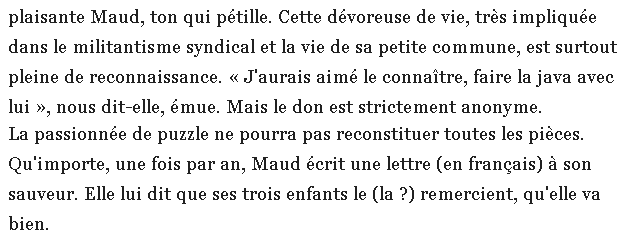 Extrait article Le Parisien