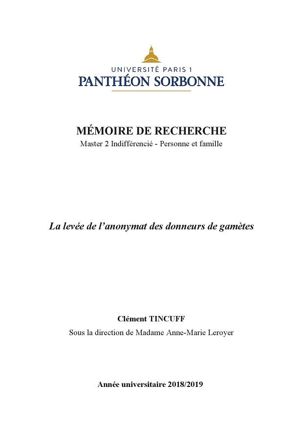 Mémoire de Clément Tincuf au format PDF