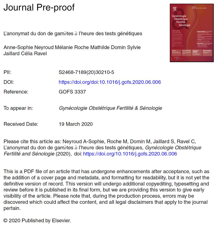 Premiere page article PDF