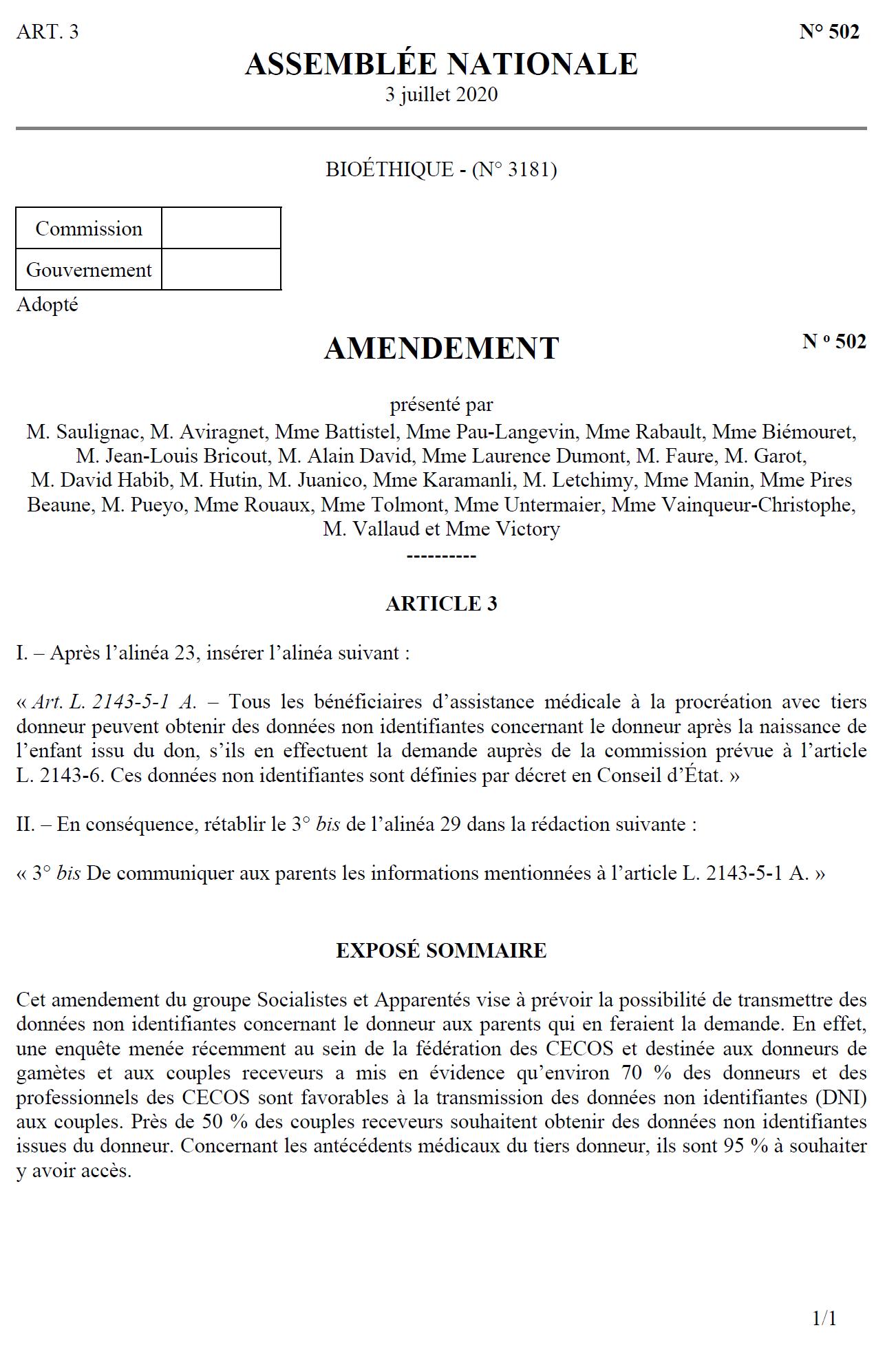 Amendement 502